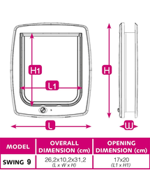 FERPLAST Swing 9 Set Brąz