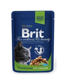 BRIT Premium Cat Adult Sterilised kurczak saszetka 100g