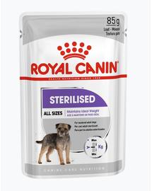 ROYAL CANIN STERILISED - nedves táp ivartalanított felnőtt kutyák részére 12 x 85g