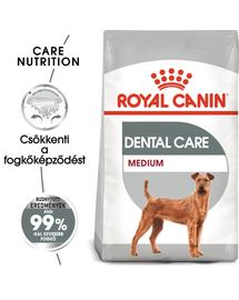 ROYAL CANIN MEDIUM DENTAL CARE - száraz táp felnőtt közepes testű kutyák részére a fogkőképződés csökkentéséért 10 kg