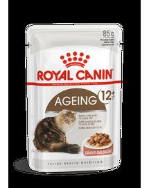 ROYAL CANIN AGEING 12+ - idős macska szószos nedves táp 85g x12