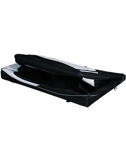 TRIXIE Szállító box vario nylon fekete-szürke 99 × 67 × 71-61 cm
