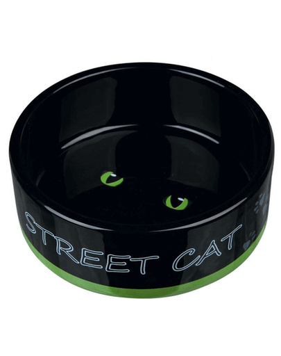TRIXIE Kerámia tál macskáknak Street Cat, 0,3 l-12 cm