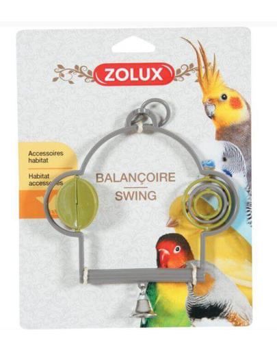 ZOLUX Műanyag hinta játékkal és csengővel
